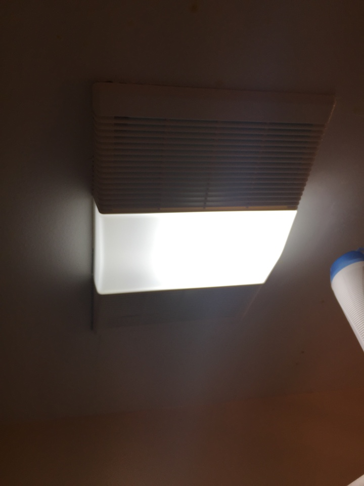 Doraville, GA - Replace bath fan with light in master bathroom. Install GFCI breaker