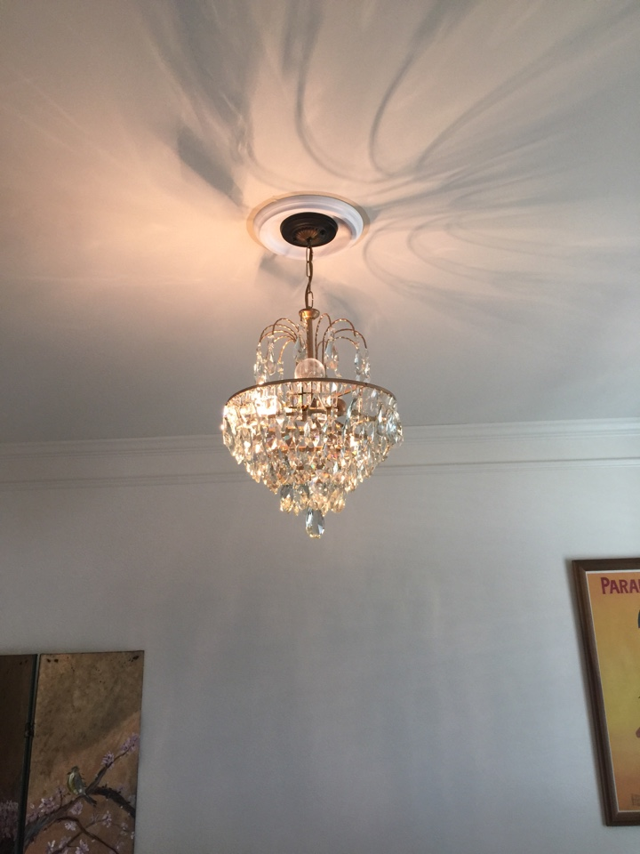 Grayson, GA - Replace chandelier in family room with an antique chandelier. Install medallion for chandelier. Install led rated dimmer. In wheat fields preserve subdivision