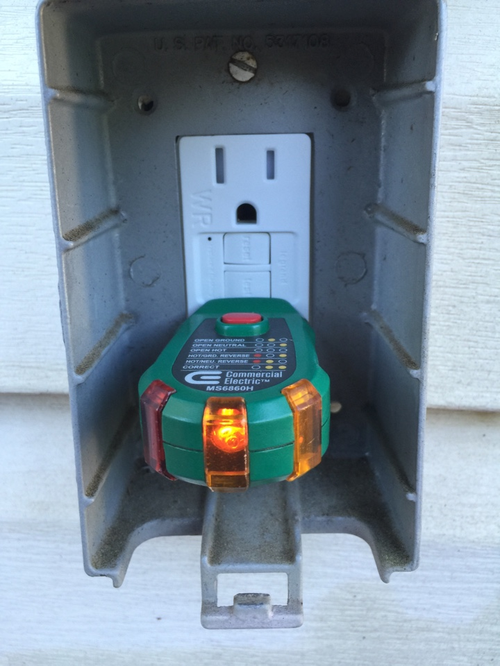 Austell, GA - Replace GFCI outlet that does not trip when tested.