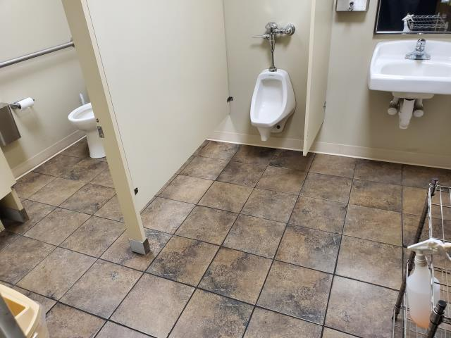 Jamestown, NC - Clean of bathroom partitions toilets urinals trash wiping walls disinfecting hard surfaces. Highly recommended on google #commercial #cleaning #services #janitorial  #day porter #five star #reviews