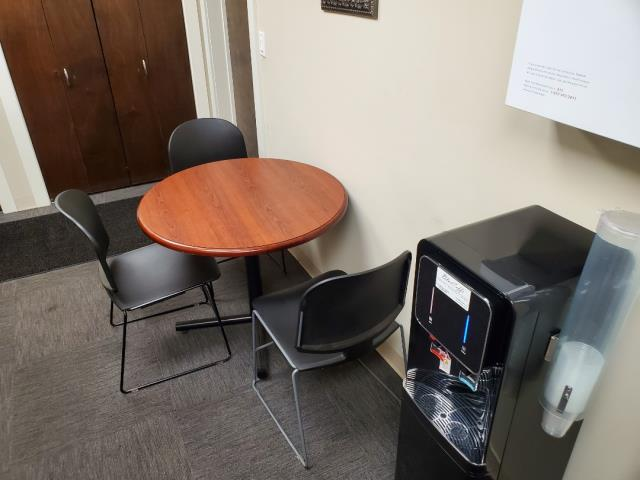 Kitchen cleaning wiping of tables chairs water fountains and definitely doors and door handles to prevent covid 19 at our facilities