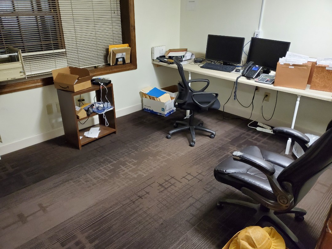 Clean office vacuum carpet disinfect tables chairs blinds vents wash walls # tcecommercial #cleaning # top #cleaning #company #business #near #me #dayporter #janitorial