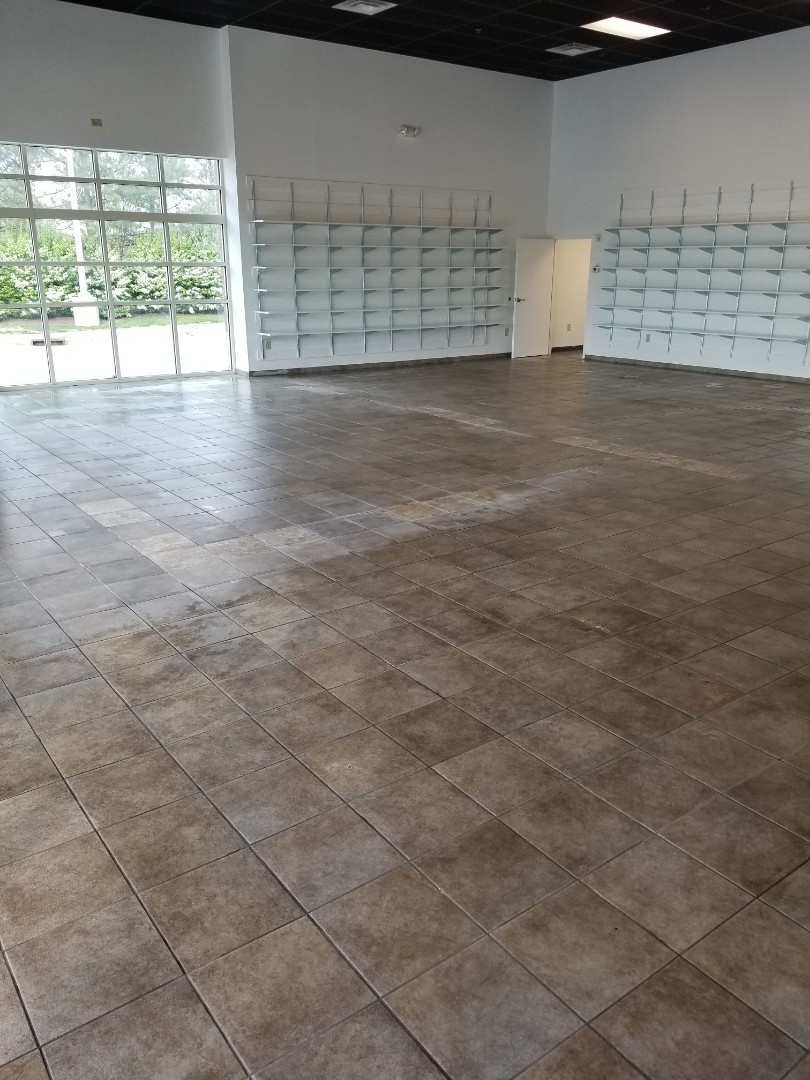 Deep cleaning a floor at a commercial store in Greensboro #janitorial #dayporter #google #services #janitorial #fivestar #bestcleaningservice #HighPoint