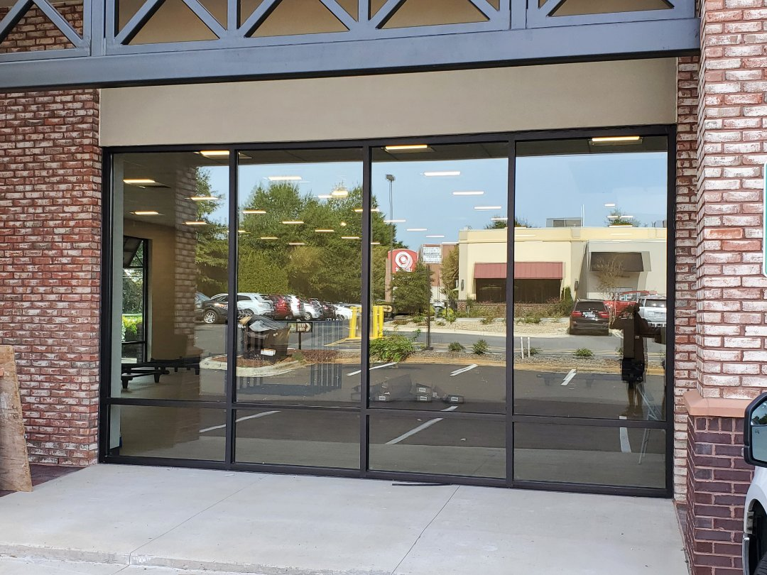 Window clean at a retail store in Greensboro customers are very satisfied #tcecommercialcleaning #clean #janitorial #clean #google #reviews #five-star