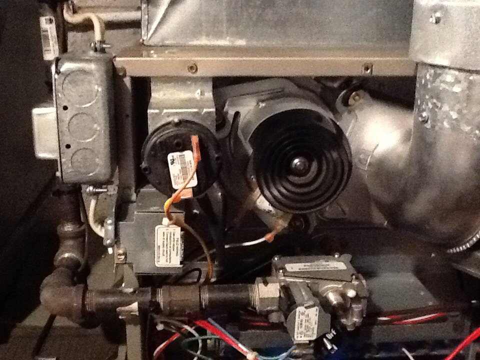 Verona, PA - Annual furnace maintenance, and repair flu liner weather cap.