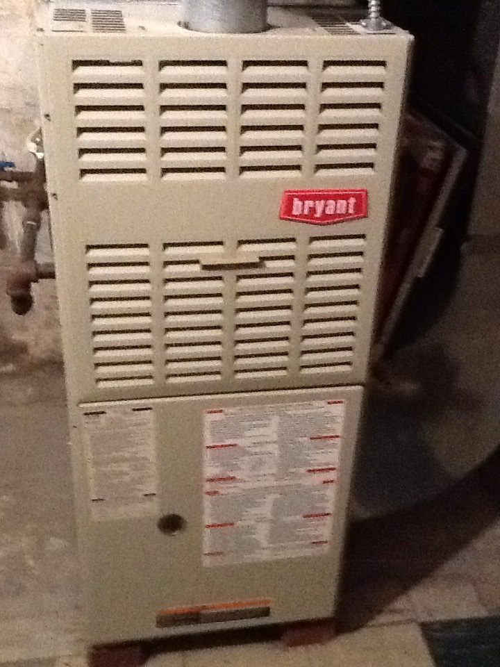 Pittsburgh, PA - Precision furnace tune up on Bryant furnace. Found cracks in heat exchanger.