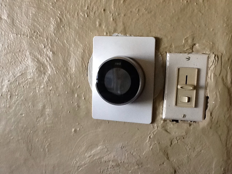 Pittsburgh, PA - Removed remains of a broken mercury stat for a homeowner, and installed a NEST stat they had purchased from a box store, using supplied backplate.