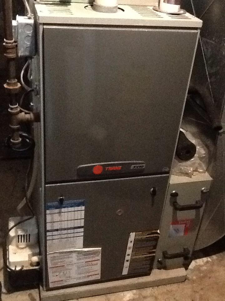 Pittsburgh, PA - Precision furnace tune up on Trane furnace.
