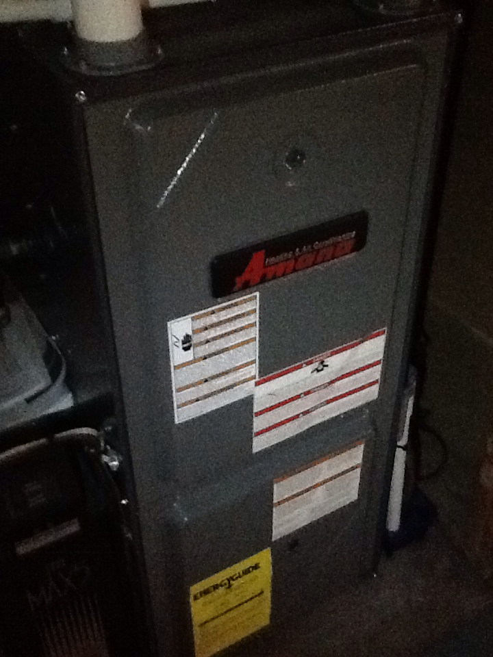 Shaler, PA - Plus Agreement heating check up on Amana furnace.