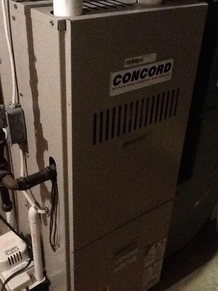 Glenshaw, PA - Precision furnace tune up on Concord furnace.