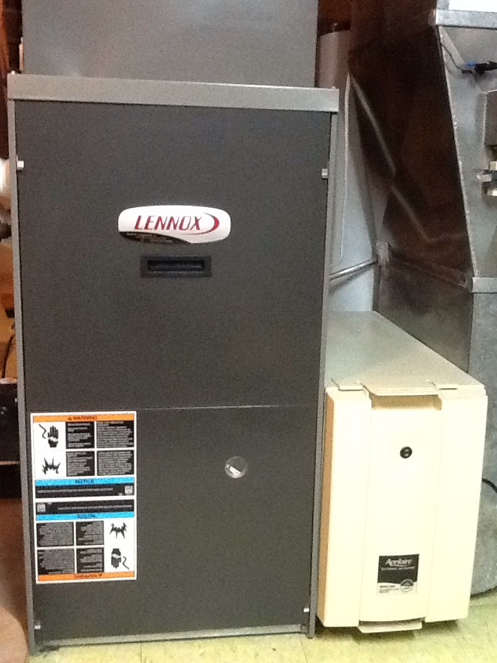 Freedom, PA - Plus Agreement heating check up on a Lennox furnace.