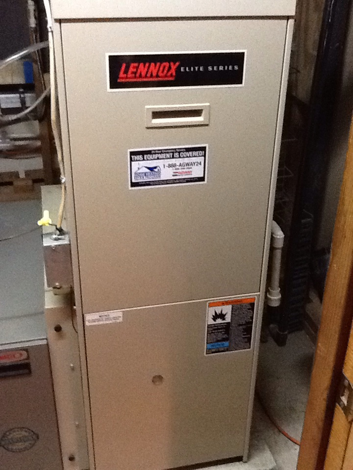 Baden, PA - Plus Agreement heating check up on a Lennox furnace.