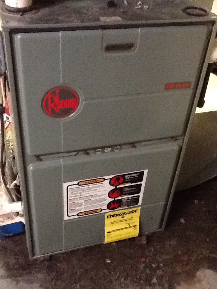 Freedom, PA - Agway no heat call on a Rheem furnace.