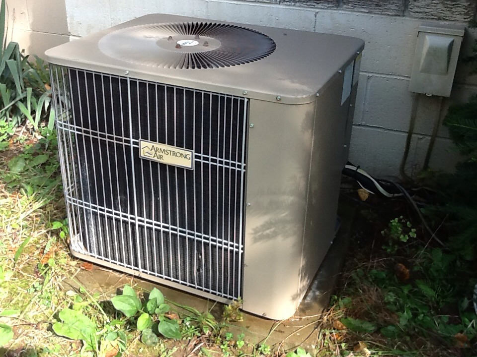 Aliquippa, PA - Plus Agreement cooling check up on an Armstrong air conditioner