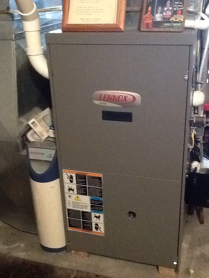 Aliquippa, PA - Signature Agreement heating check up on a Lennox furnace.