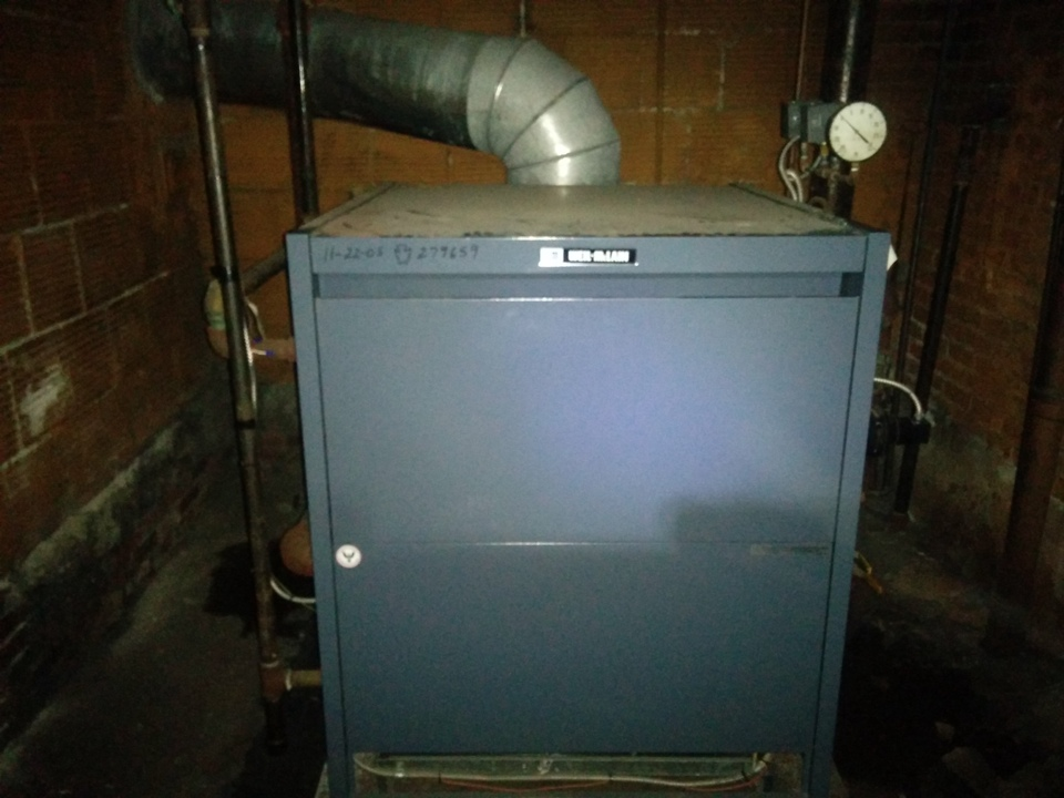 Washington, PA - Responded to an after hours no heating call, in an apartment building. Found system off on a low water cut out fault. Traced the piping, and opened the main water line. Filled and fired the boiler. Took pictures for the owner, and made repair recomendations.