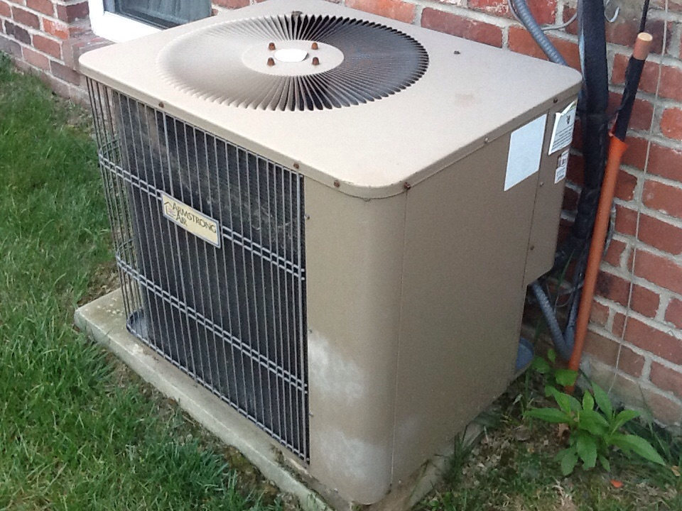 Cheswick, PA - Flat rate no cooling call on an Armstrong air conditioner. Bad capacitor.
