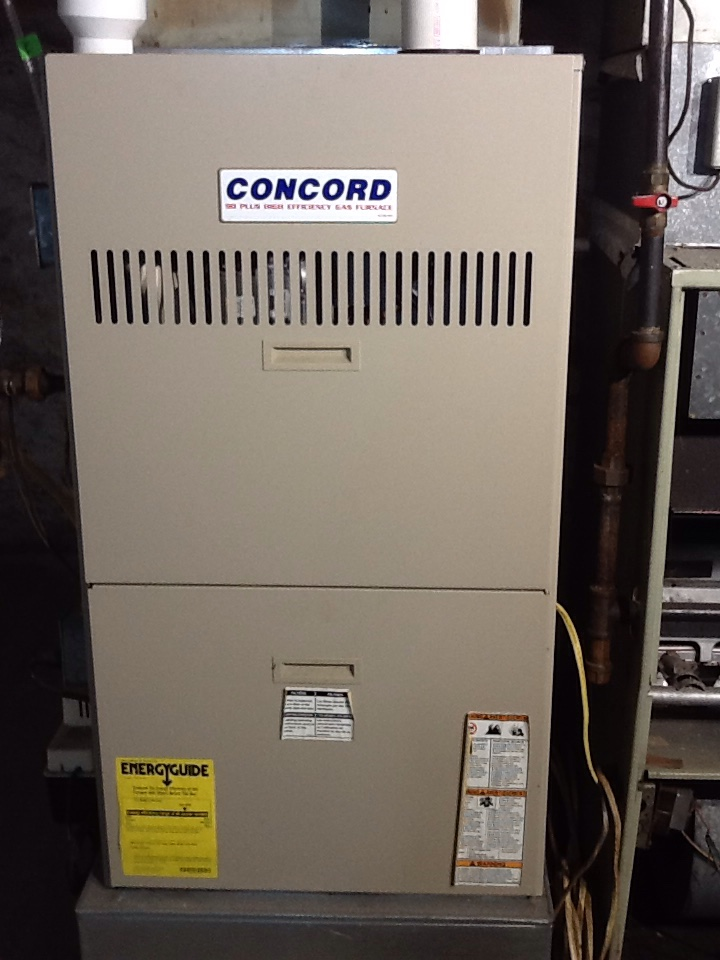 Bellevue, PA - Precision furnace tune up on a Concord furnace.