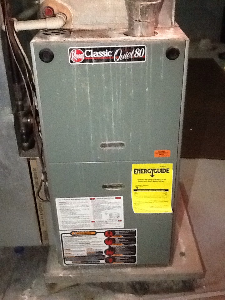 Murrysville, PA - No heat call on a Rheem furnace.