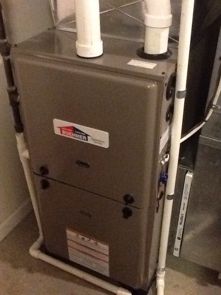 Pittsburgh, PA - Check flue pipes on new furnace install.