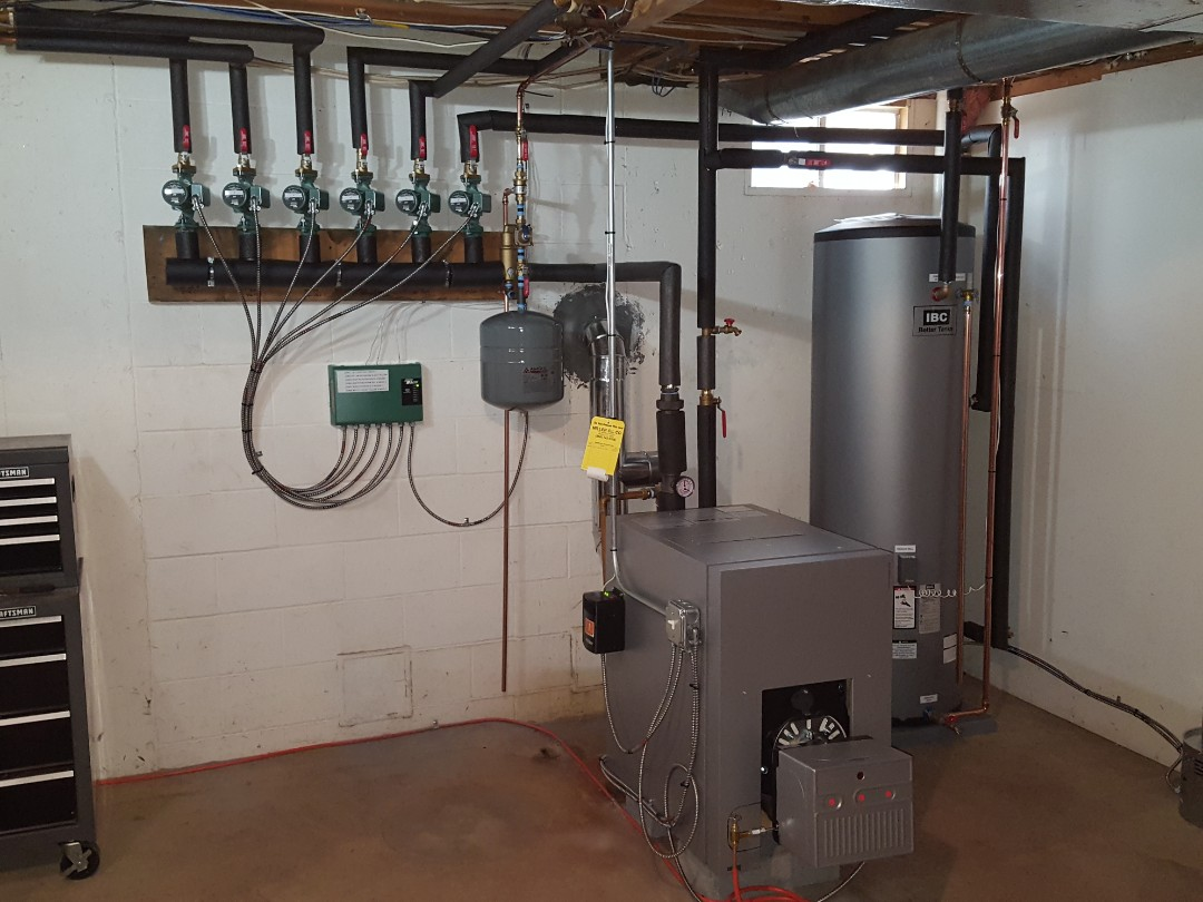Granby, CT - Installed boiler