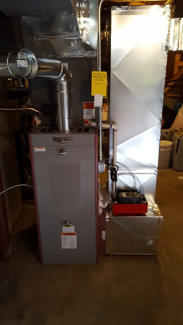 Furnace and air conditioning installation