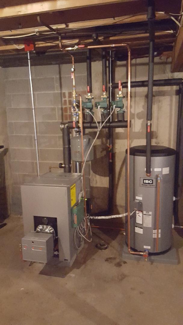 Windsor, CT - Installing boiler