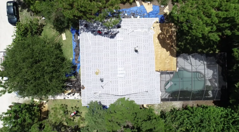 Bonita Springs, FL - Restoring a roof that has been affected by wind damage over time. We are installing new decking and GAF Timberline HD Asphalt Shingles in a grey color.