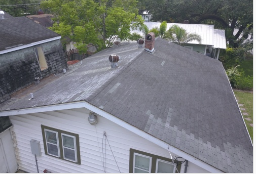 Sanford, FL - Restoring a sagging roof that has exceeded its life span, has indications of cracked or damaged shingles, and is leaking into the client's home.