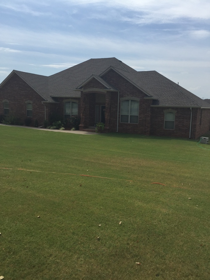 Blanchard, OK - Rain coming tonight no problem with a brand-new GAF impact resistant roof.