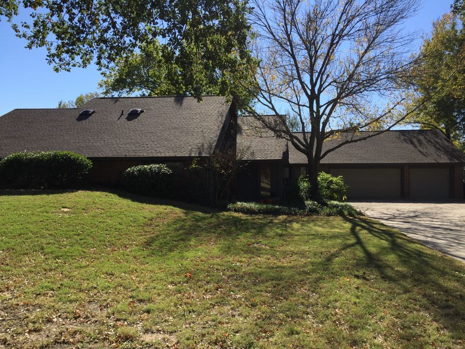 Norman, OK - Installed GAF Timberline HD Weatherwood with High Profile Z-ridge, GAF System Plus Warranty, additional vents and new Solid Sheathing to meet City Code & manufacture specs.