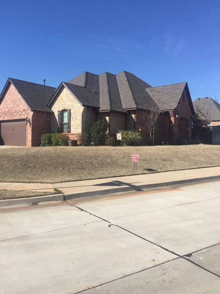 Norman, OK - The high profile ridge adds a great look to this beautiful home.