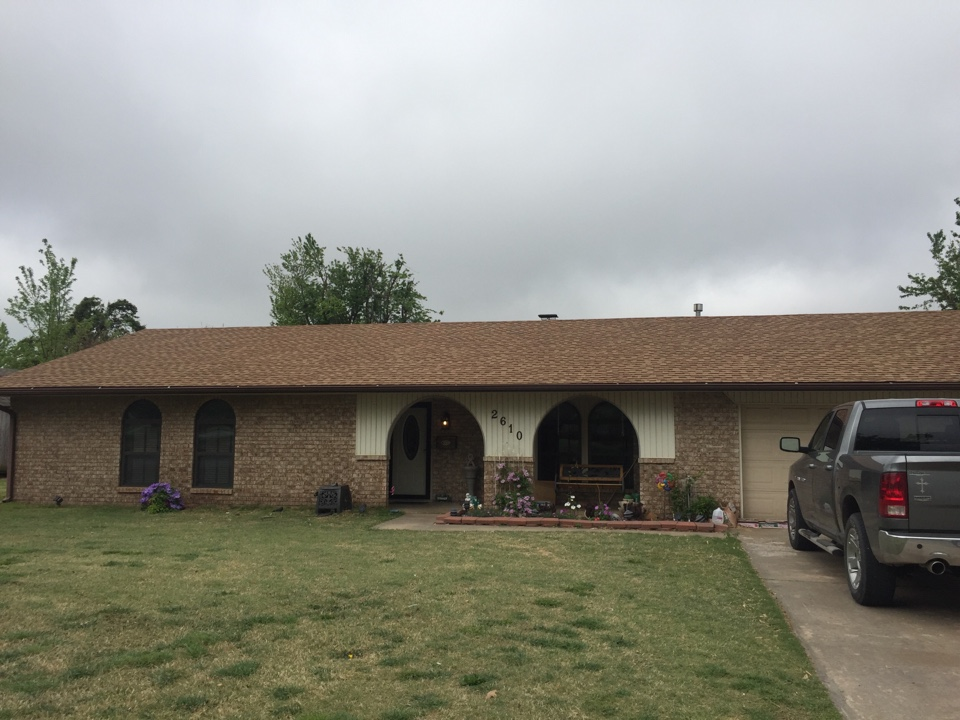 El Reno, OK - Another house needing its roof replaced.