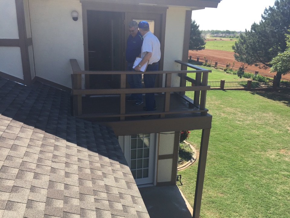 Yukon, OK - Helping previous customer with replacing roof & exterior repairs due to weather damage.