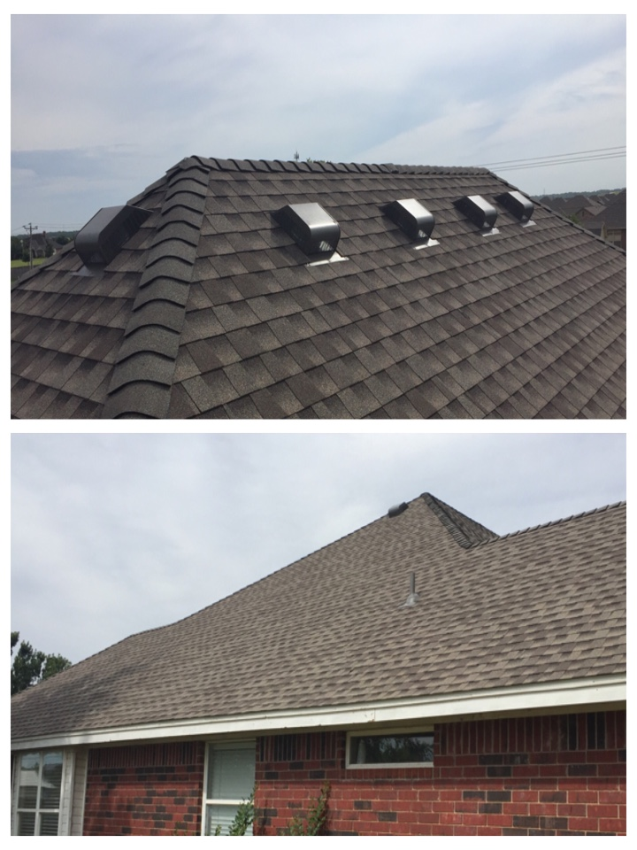 Yukon, OK - Installing new roof in Yukon and added additional vents to get the roof up the manufacture specs.