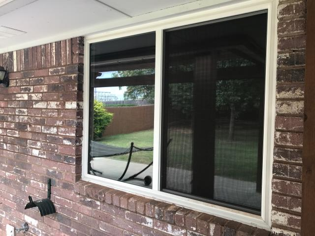 Oklahoma City, OK - Installed new Vinyl Windows in Oklahoma City, OK with the replacement of the roof and gutters.