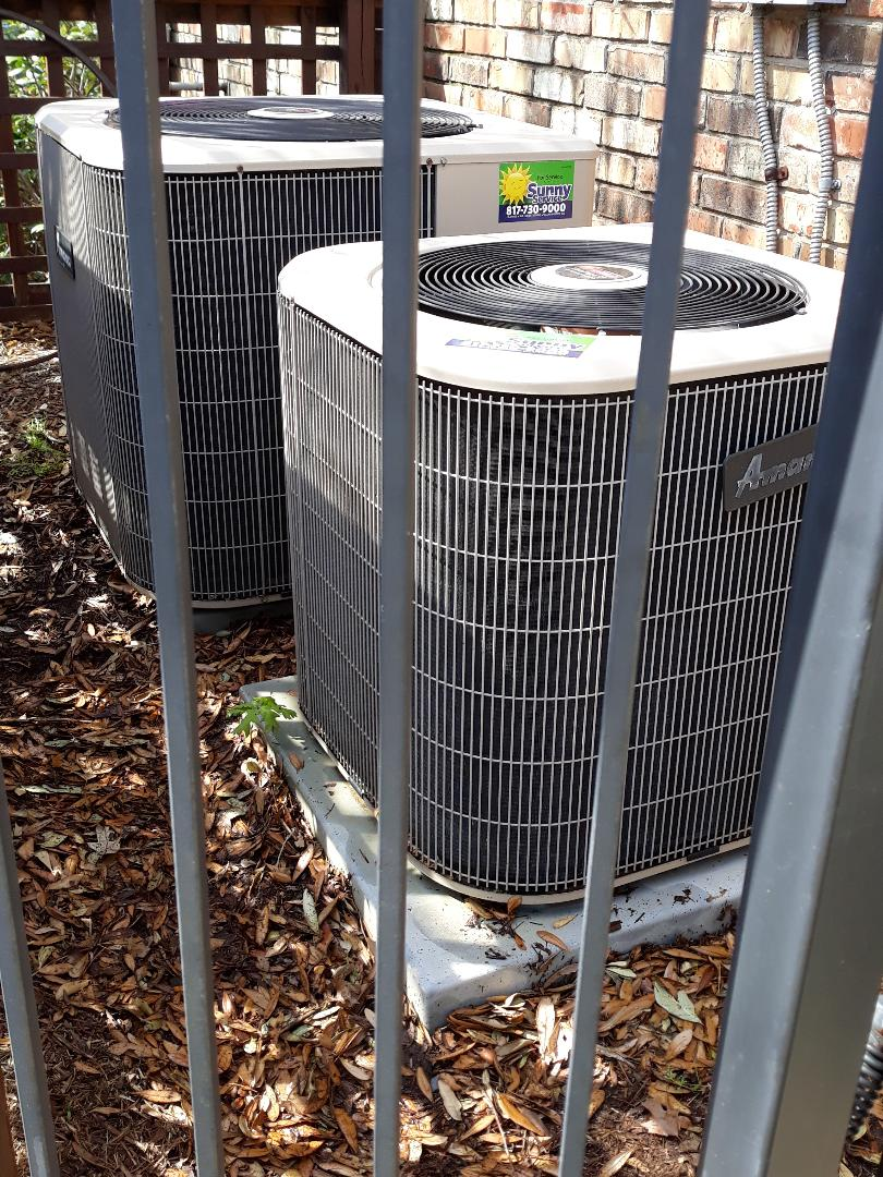 Colleyville, TX - 2 system AC tune up on Amana condensers