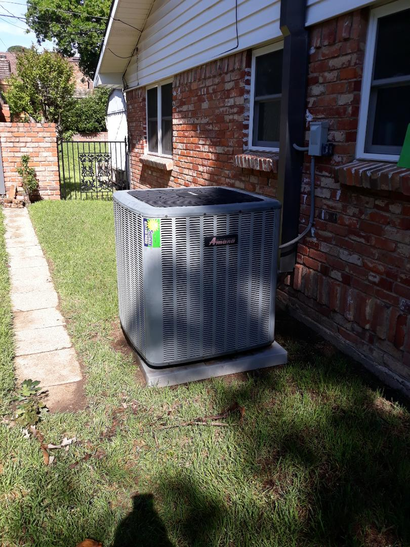Hurst, TX - Air conditioner tune up on Amana system