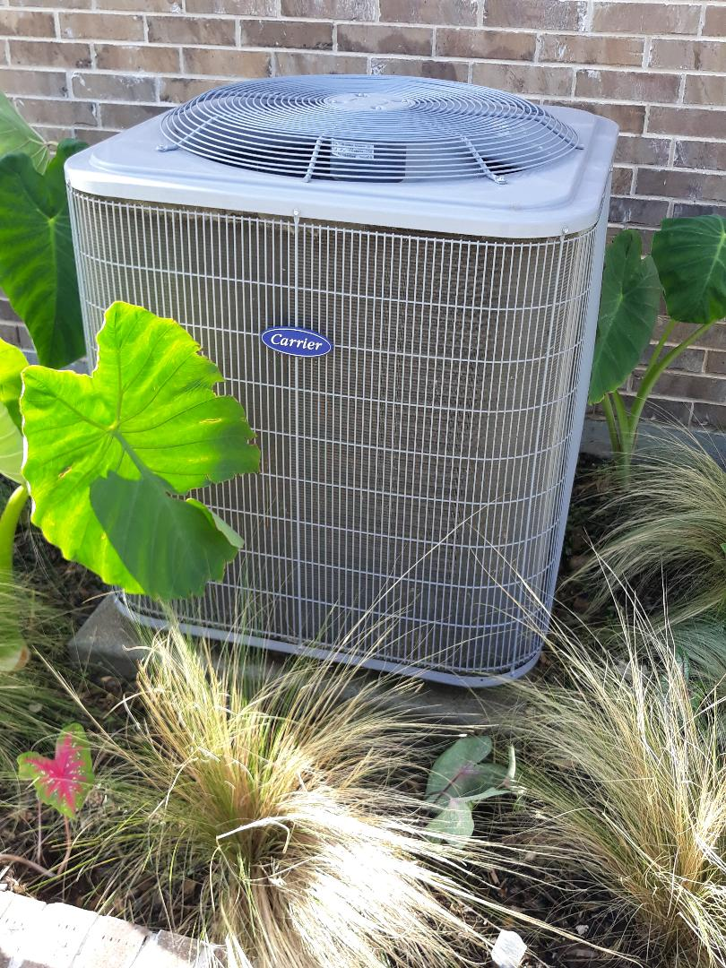 Fort Worth, TX - Air conditioning tune up and maintenance on a Carrier.