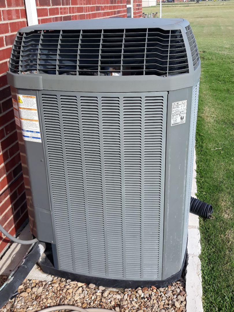 Haslet, TX - Air Conditioner repair on a Trane unit