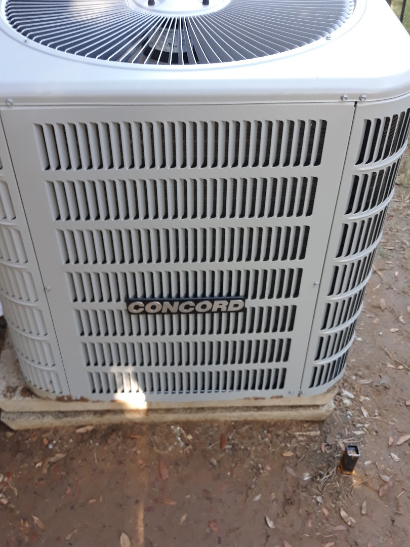 Bedford, TX - New air conditioner install with a Concord.