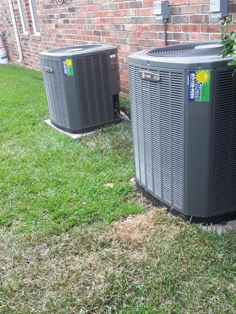 Colleyville, TX - Air conditioner repair on Trane condenser