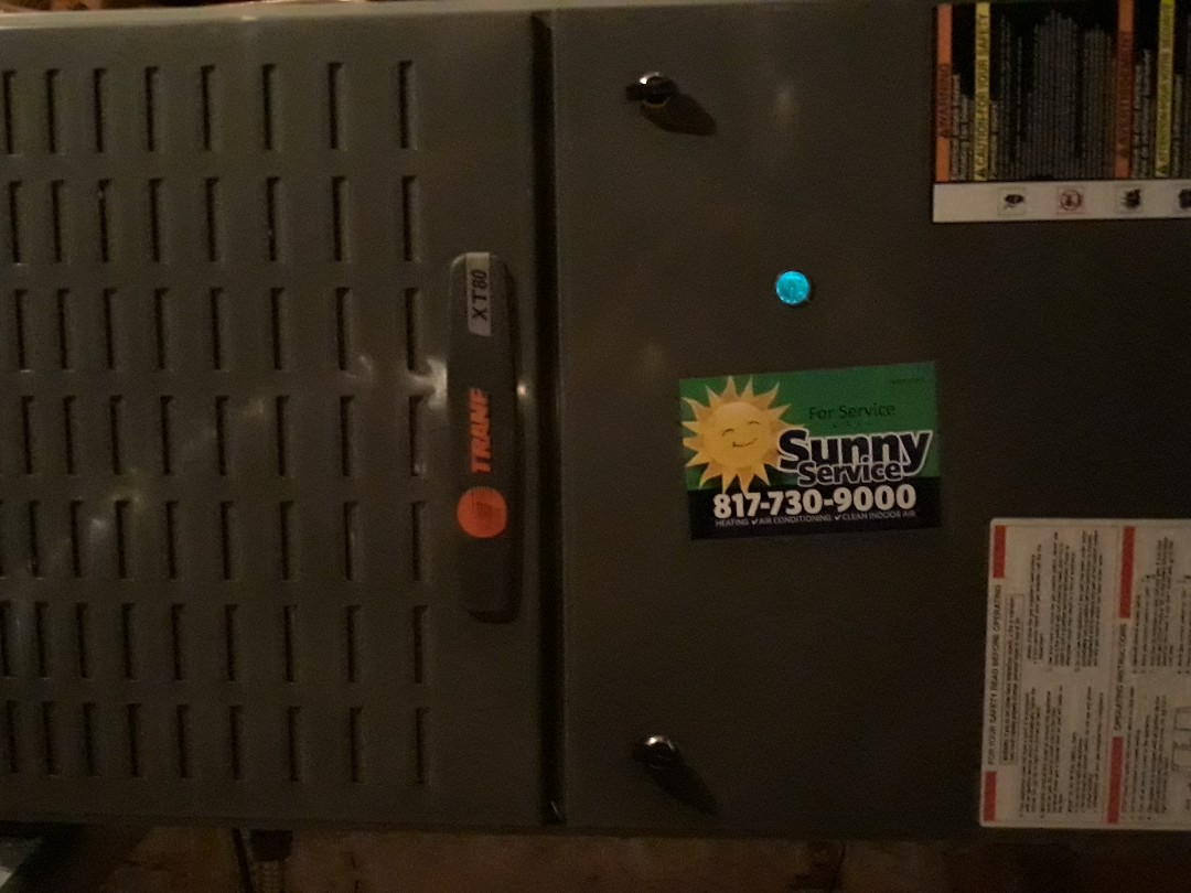 Arlington, TX - Tune up and maintenance on a Trane furnace.