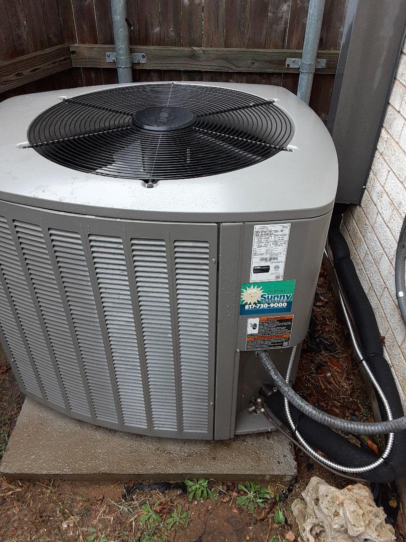 Hurst, TX - Heater maintenance on lennox heat pump