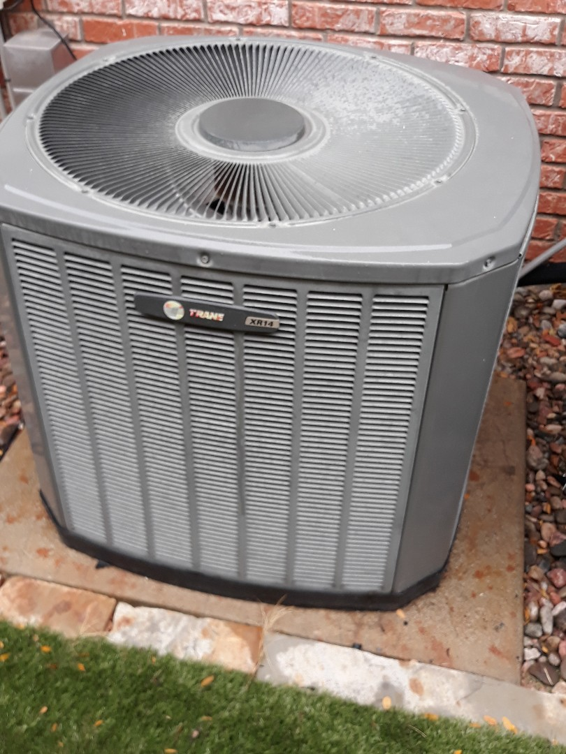 Watauga, TX - Tune up and maintenance on a Trane heat pump.