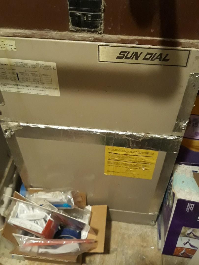 Euless, TX - Heater repair on a Sun Dial electric furnace.