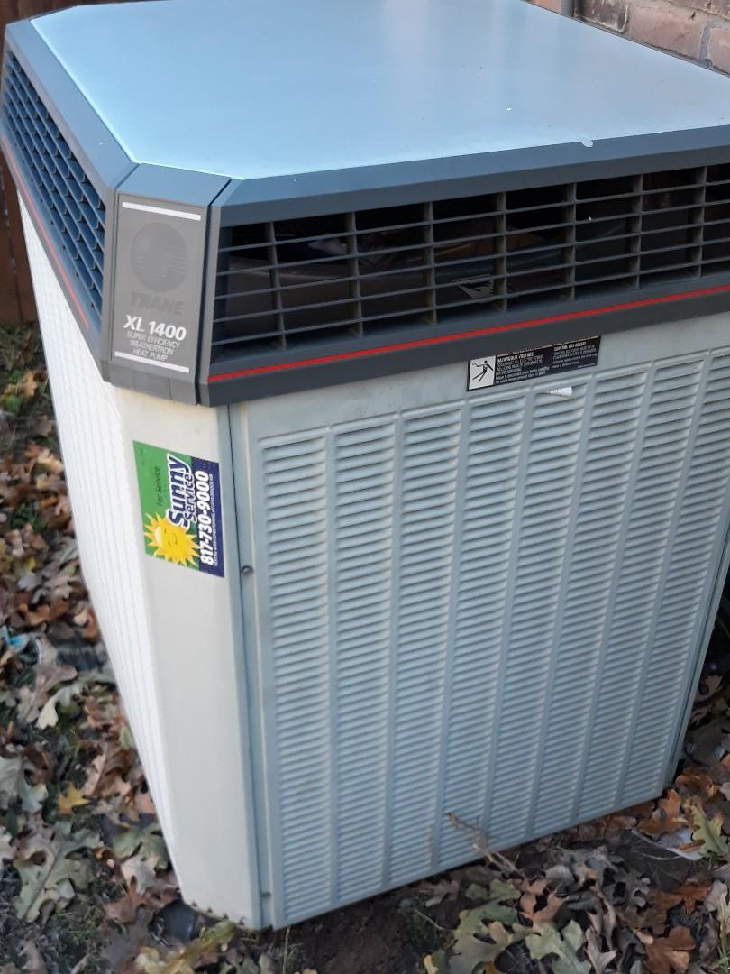 Grapevine, TX - Tune up and maintenance on a Trane heat pump.