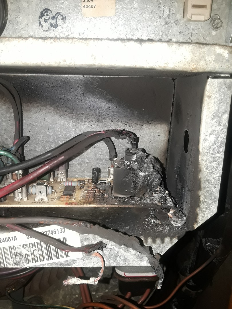 Arlington, TX - Replace failed control board and melted wires