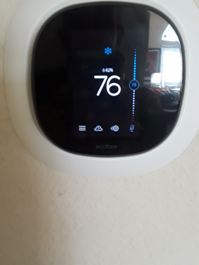 Grand Prairie, TX - Air Conditioner service. Installation of an ecobee4 t stat