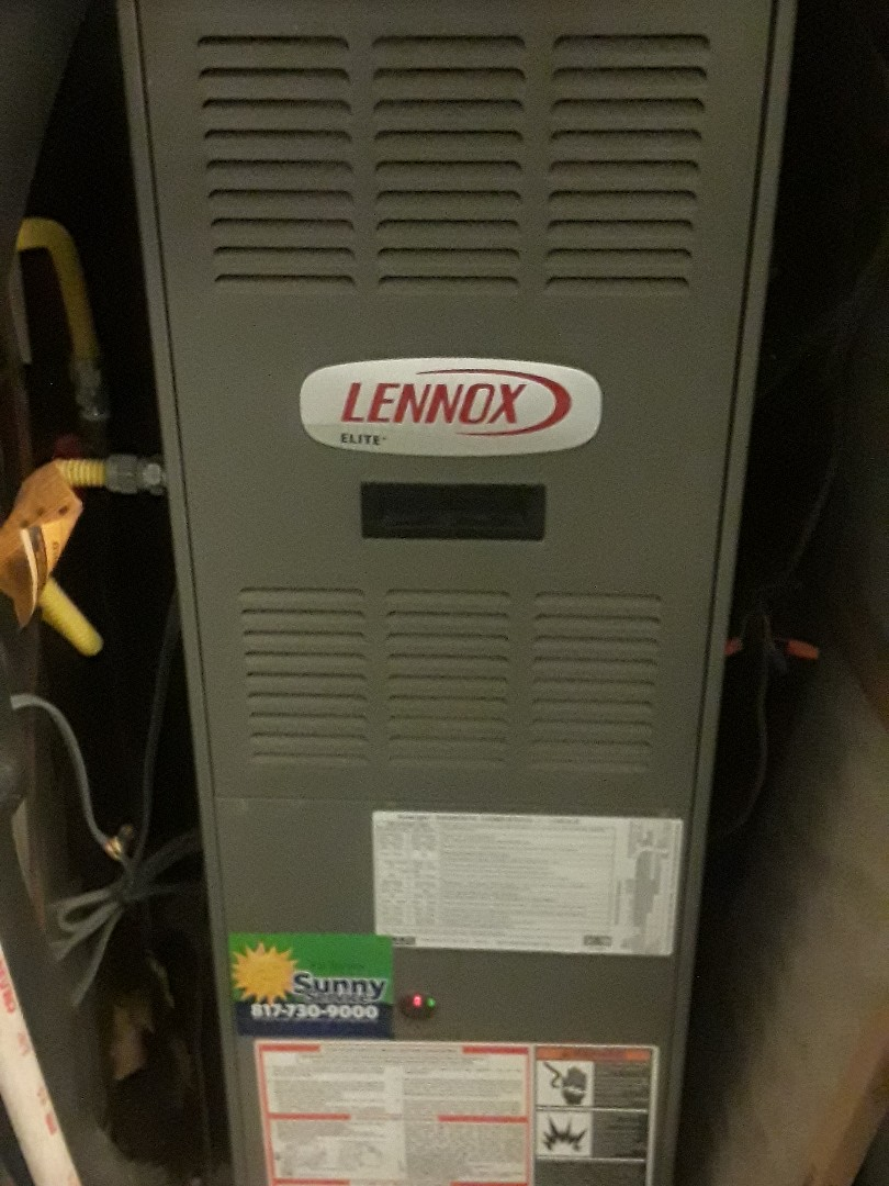 Arlington, TX - Furnace repair on a Lennox.